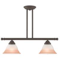 Livex 40722-07 Wynnewood 2 Light 24 inch Bronze Linear Chandelier Ceiling Light