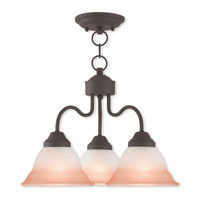 Livex 40723-07 Wynnewood 3 Light 18 inch Bronze Dinette Chandelier Ceiling Light