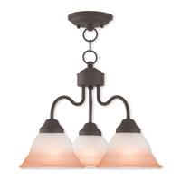 Livex 40723-07 Wynnewood 3 Light 18 inch Bronze Dinette Chandelier Ceiling Light