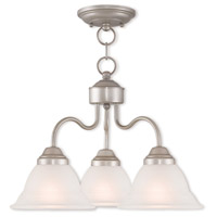 Livex Lighting Wynnewood 3 Light Dinette Chandelier in Hand Applied Brushed Silver 40723-34