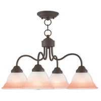 Livex 40724-07 Wynnewood 4 Light 24 inch Bronze Dinette Chandelier Ceiling Light