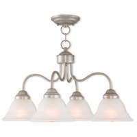 Livex 40724-34 Wynnewood 4 Light 24 inch Hand Applied Brushed Silver Dinette Chandelier Ceiling Light