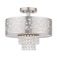 Livex 40762-05 Allendale 2 Light 13 inch Polished Chrome Semi Flush Mount Ceiling Light photo thumbnail