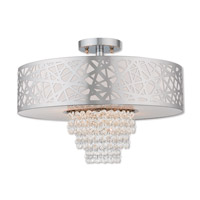Livex 40764-05 Allendale 4 Light 18 inch Polished Chrome Semi Flush Mount Ceiling Light