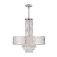 Livex 40767-05 Allendale 5 Light 22 inch Polished Chrome Pendant Chandelier Ceiling Light