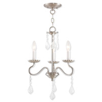Livex Lighting Callisto 3 Light Mini Chandelier in Brushed Nickel 40773-91