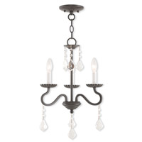 Livex 40773-92 Callisto 3 Light 14 inch English Bronze Mini Chandelier Ceiling Light