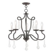 Livex 40775-92 Callisto 5 Light 24 inch English Bronze Chandelier Ceiling Light