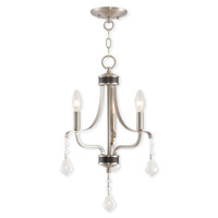 Livex Lighting Laurel 3 Light Mini Chandelier in Brushed Nickel 40783-91