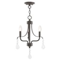 Livex 40783-92 Laurel 3 Light 13 inch English Bronze Mini Chandelier Ceiling Light