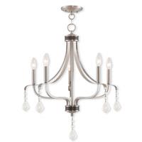 Livex 40785-91 Laurel 5 Light 24 inch Brushed Nickel Chandelier Ceiling Light