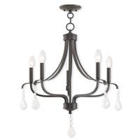Livex 40785-92 Laurel 5 Light 24 inch English Bronze Chandelier Ceiling Light