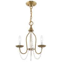 Livex 40793-01 Alessia 3 Light 13 inch Antique Brass Mini Chandelier Ceiling Light alternative photo thumbnail