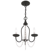 Livex 40793-04 Alessia 3 Light 13 inch Black Mini Chandelier Ceiling Light alternative photo thumbnail