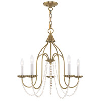 Livex 40795-01 Alessia 5 Light 24 inch Antique Brass Chandelier Ceiling Light