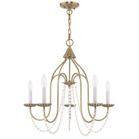Livex 40795-01 Alessia 5 Light 24 inch Antique Brass Chandelier Ceiling Light alternative photo thumbnail