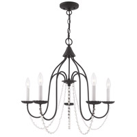 Livex 40795-04 Alessia 5 Light 24 inch Black Chandelier Ceiling Light photo thumbnail