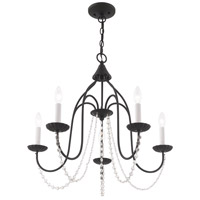 Livex 40795-04 Alessia 5 Light 24 inch Black Chandelier Ceiling Light alternative photo thumbnail