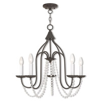 Livex 40795-92 Alessia 5 Light 24 inch English Bronze Chandelier Ceiling Light