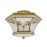 Livex Lighting Beacon Hill 3 Light Ceiling Mount in Antique Brass 4083-01