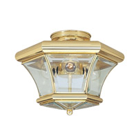 Beacon Hill 3 Light 13 inch Polished Brass Ceiling Mount Ceiling Light