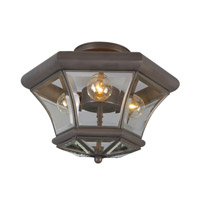 Livex Lighting Beacon Hill 3 Light Ceiling Mount in Bronze 4083-07