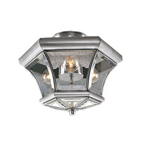 Livex Lighting Beacon Hill 3 Light Ceiling Mount in Brushed Nickel 4083-91