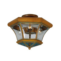 Livex Lighting Beacon Hill 3 Light Ceiling Mount in Vintage Brass 4083-93