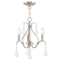 Livex Lighting Caterina 3 Light Mini Chandelier in Brushed Nickel 40843-91