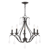 Livex 40845-92 Caterina 5 Light 24 inch English Bronze Chandelier Ceiling Light