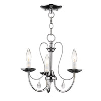Mirabella 3 Light 15 inch Polished Chrome Chandelier Ceiling Light