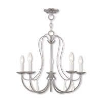 Livex 40865-05 Mirabella 5 Light 24 inch Polished Chrome Chandelier Ceiling Light