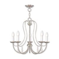 Mirabella 5 Light 24 inch Brushed Nickel Chandelier Ceiling Light