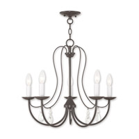 Livex 40865-92 Mirabella 5 Light 24 inch English Bronze Chandelier Ceiling Light