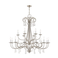Daphne 18 Light 42 inch Brushed Nickel Foyer Chandelier Ceiling Light