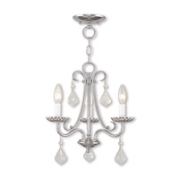 Livex 40873-05 Daphne 3 Light 14 inch Polished Chrome Mini Chandelier Ceiling Light