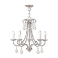 Livex 40875-91 Daphne 5 Light 25 inch Brushed Nickel Chandelier Ceiling Light