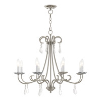 Livex 40878-05 Daphne 8 Light 30 inch Polished Chrome Chandelier Ceiling Light