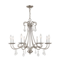 Daphne 8 Light 30 inch Brushed Nickel Chandelier Ceiling Light