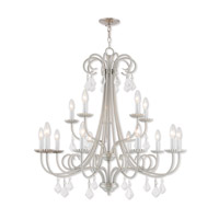 Daphne 15 Light 36 inch Brushed Nickel Foyer Chandelier Ceiling Light