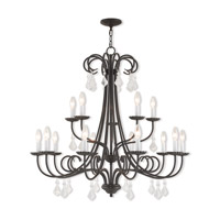 Daphne 15 Light 36 inch English Bronze Foyer Chandelier Ceiling Light