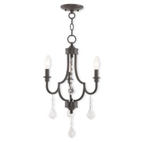 Livex 40883-92 Glendale 3 Light 14 inch English Bronze Mini Chandelier Ceiling Light