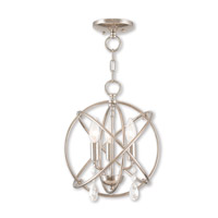 Aria 3 Light 12 inch Polished Nickel Mini Chandelier Ceiling Light