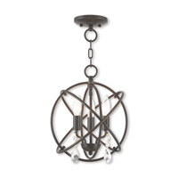 Livex 40903-92 Aria 3 Light 12 inch English Bronze Mini Chandelier Ceiling Light