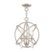 Aria 3 Light 15 inch Polished Nickel Mini Chandelier Ceiling Light