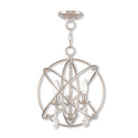 Aria 3 Light 15 inch Brushed Nickel Mini Chandelier Ceiling Light