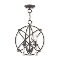 Aria 3 Light 15 inch English Bronze Mini Chandelier Ceiling Light