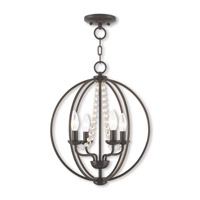 Livex 40914-92 Arabella 4 Light 15 inch English Bronze Mini Chandelier Ceiling Light