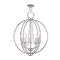 Livex 40915-05 Arabella 5 Light 22 inch Polished Chrome Chandelier Ceiling Light
