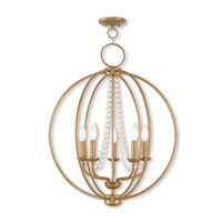 Arabella 5 Light 22 inch Antique Gold Leaf Chandelier Ceiling Light